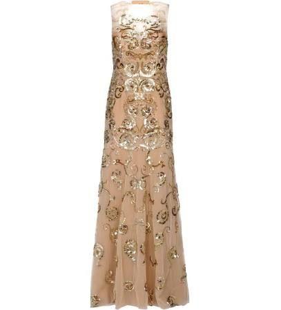 Zuhair Murad Girl's Camel Tan Long Dress Size 8
