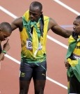 warren weir usain bolt yohan blake - Jamaica 1, 2 and 3 200 m Olympic champions 2012