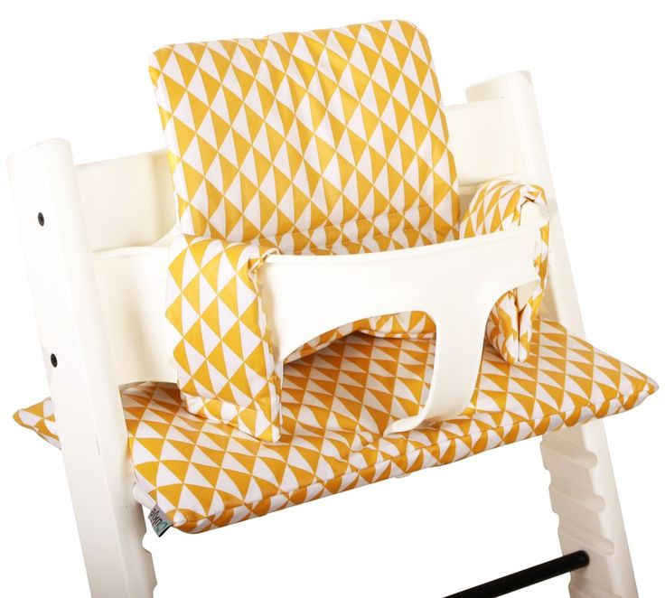 New by UKJE! Stokke Tripp Trapp cushion yellow/white. www.ukje.nl #UKJE #Stokke