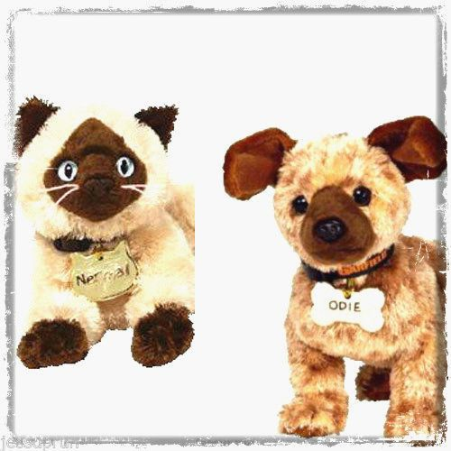 d533c76271f TWO NEW Ty GARFIELD MOVIE Beanie Babies - NERMAL the Cat   ODIE the Dog!  Retired