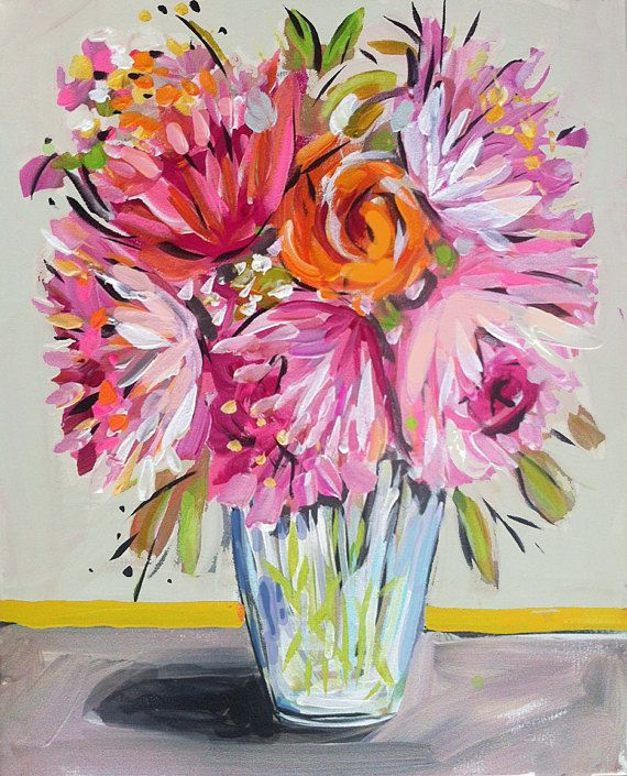 Impressionist Art Acrylic PRINT Art Impressionism Roses