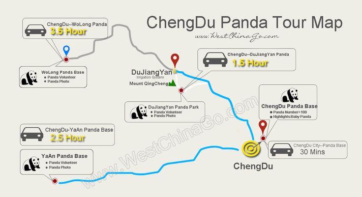 chengdu panda tour map www.westchinago.com info@westchinago.com
