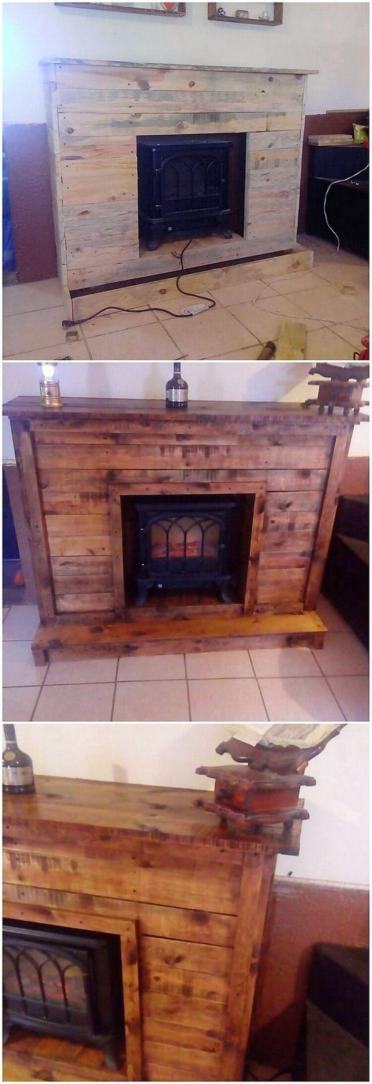 best 25 pallet fireplace ideas on pinterest pallet wall bedroom