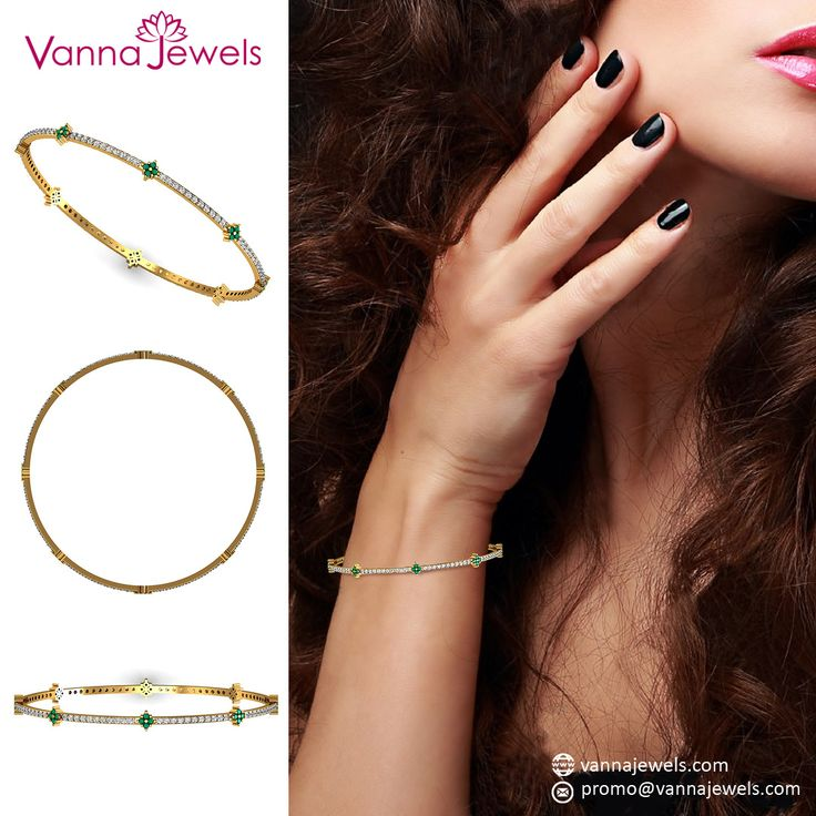 Solid Yellow Gold SGL Certified Diamond Bangle Bracelet Natural Emerald Gemstone Jewelry
