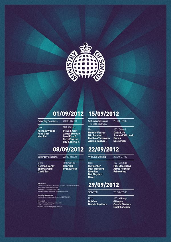 Ministry of Sound Posters - alexgoughdesign
