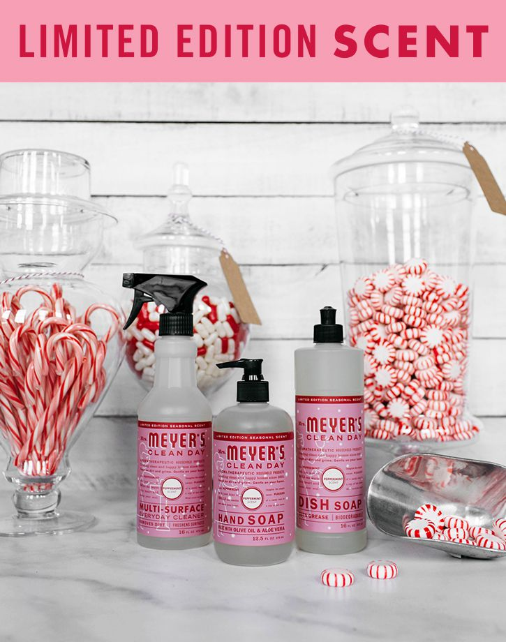 A lot of making happens in the kitchen, so it's no surprise that's where the messes are, too. Keep yours in tiptop shape with a little help from our new limited edition Peppermint scent. Suds up post-baking hands with a pump or two of our Hand Soap. Then get to work on all your bowls, spoons and cookware with our Dish Soap. Don't forget to show the sink a little TLC, too. Finally, tackle your table with a spritz of our Multi-Surface Everyday Cleaner. Shop these and more over at…