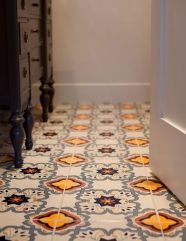 This floor is one example of the 12x12 ceramic tiles we sell. There are many more designs to choose from.