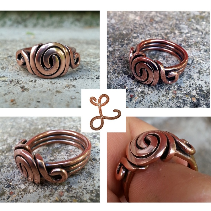 Oval Bold Swirl Ring by Leah Hoffman Jewelry Design