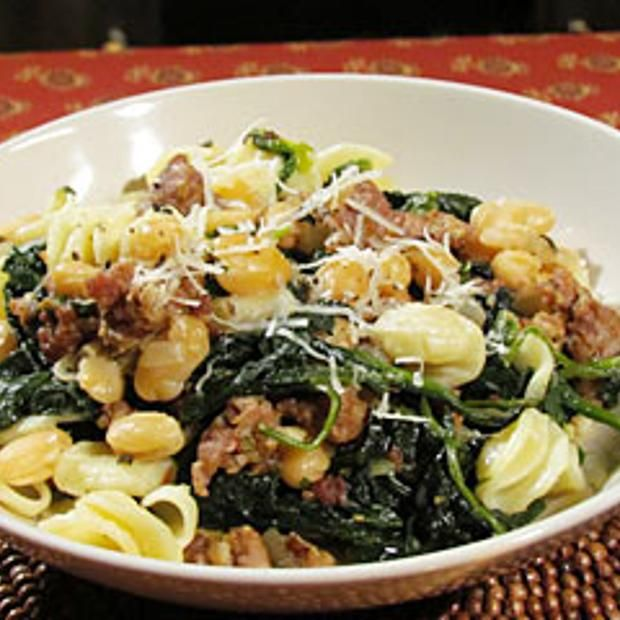Pasta With Cannellini Beans And Sausage Recipe  with 12 ingredients Recommended by 3 users.