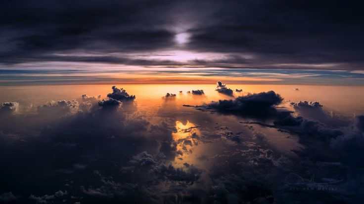 A sunset over the Atlantic Ocean.