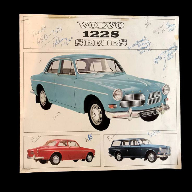 Vintage Volvo 544 Auto Brochure Dealer Catalog 122S Series Volvo Swedish Automobile Made in Sweden Foreign Car 1950s 1960s Scrapbooking by MerrilyVerilyVintage on Etsy https://www.etsy.com/listing/542223458/vintage-volvo-544-auto-brochure-dealer