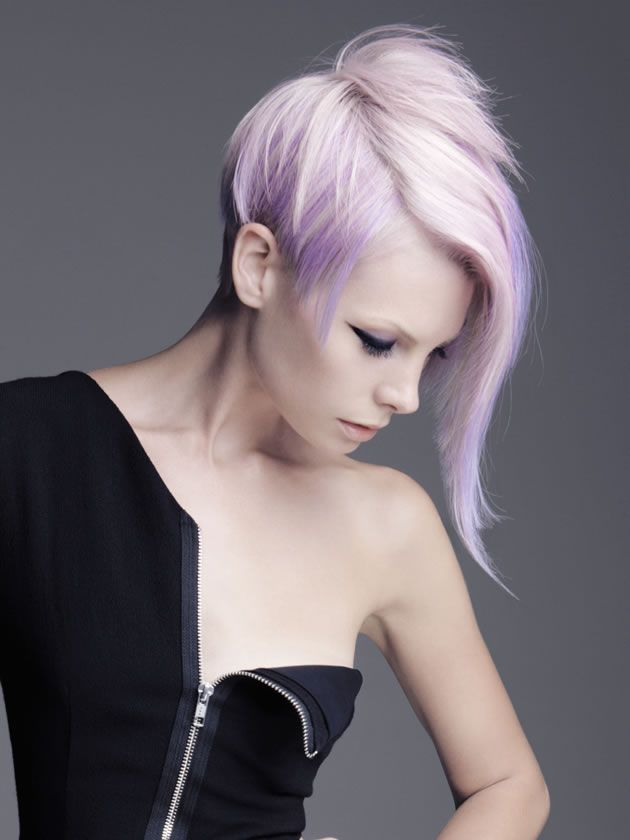 Purple, pink, soft colored hair