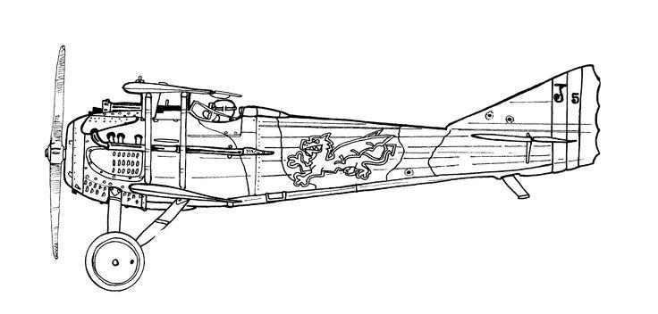 spad VII - illustration david Voileaux copyright