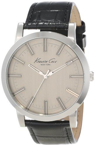 awesome Kenneth Cole New York Men's KC1931 Classic Light Grey Dial Field Case Watch  –  Case
