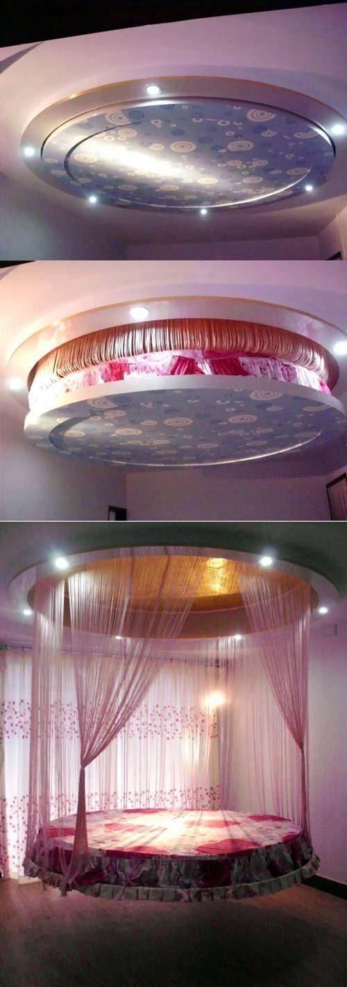 creatividad...: cama  en el techo
