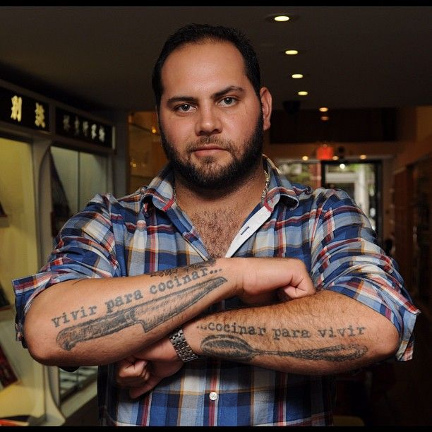 Thanks for shopping by Chef Jake Rojas @Newportchef from Tallulah on Thames. Awesome Masamoto knife tattoo!