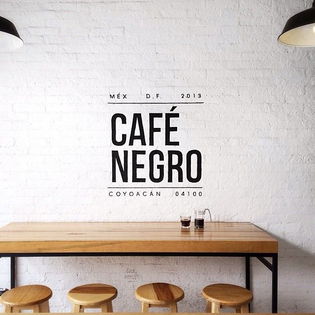 Cafe Negro in Mexico City. #typography