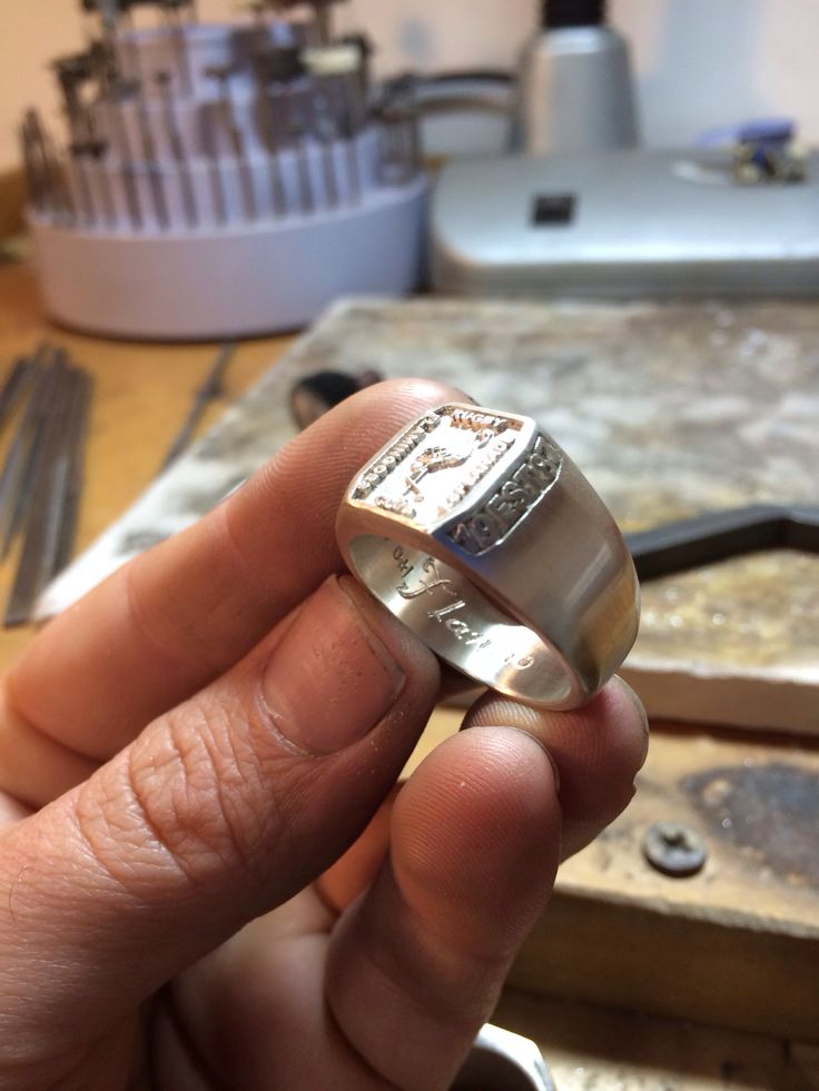 Putting the final engraving into one of the very cool rings for the Cairns Esplanade Flamingoes Rugby Club :)