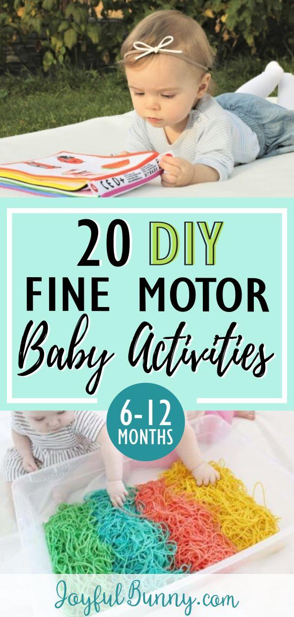20 DIY Feinmotorik Baby Aktivitäten: 6-12 Monate  – baby ideas