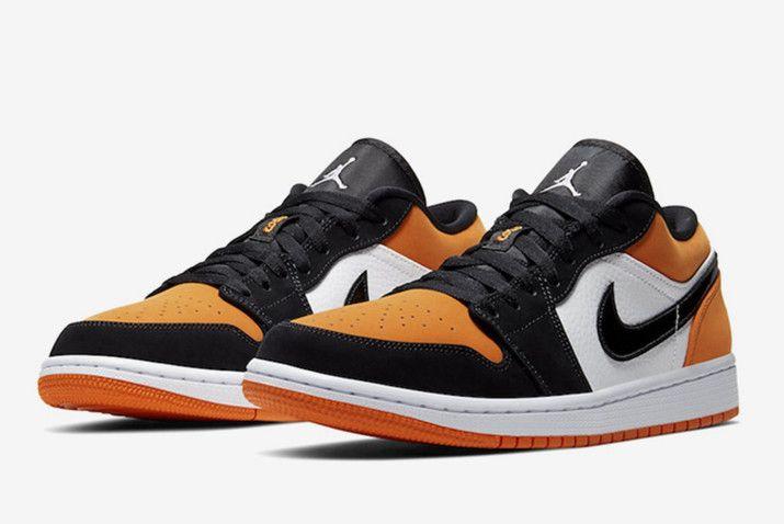 Air Jordan 1 Low AJ1 Black/Orange-White 553558-128 | Air ...