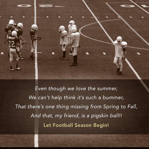LET FOOTBALL SEASON BEGIN!