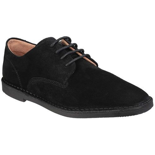 Hush Puppies Grant Mens Suede Casual Shoe Black Hush Puppies Grant men s  lace up shoe