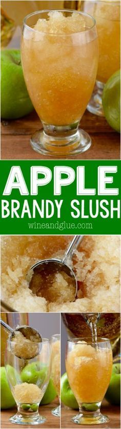 This Apple Brandy Slush is easy to make and serves a crowd! It's delicious and perfect for a party!