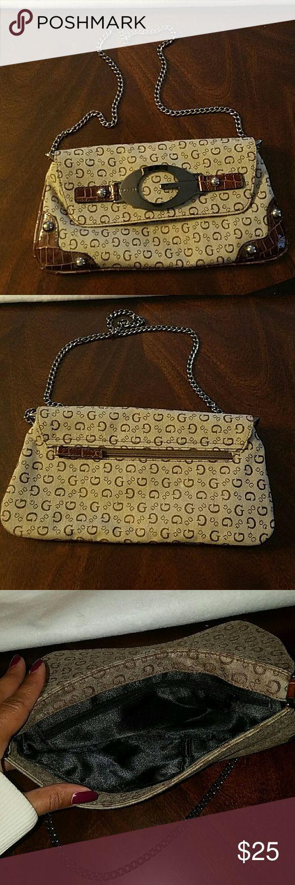 Purse/ bag Cute brown clutche bag Guess Bags Clutches & Wristlets
