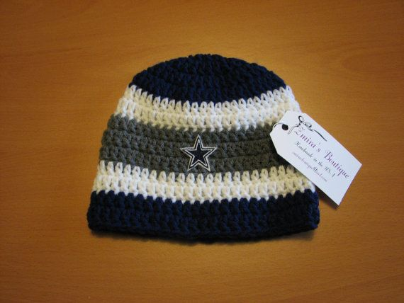 Dallas Cowboys Knit Hat Pattern : 16 best images about Crochet Dallas Cowboys on Pinterest Football, Dallas c...