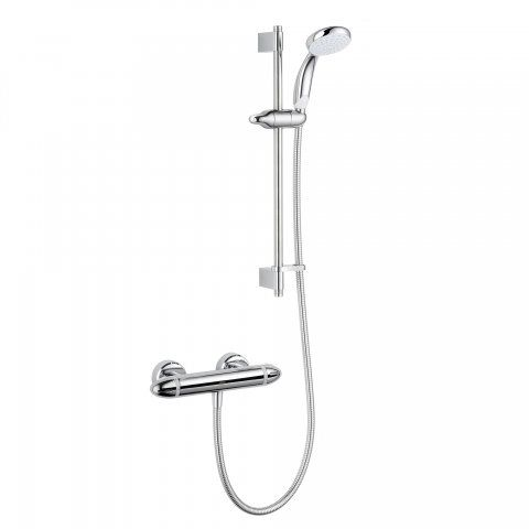 Mira Coda Pro EV Thermostatic Bar Mixer Shower - Chrome [PT-1.1836.005] - £174.99 : Platinum Taps & Bathrooms