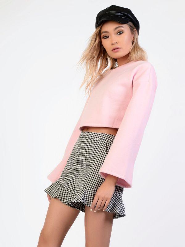 Pink cropped sweatshirt