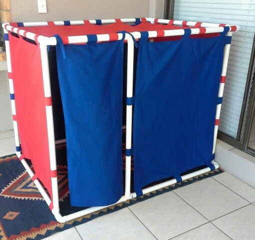 Pvc pipe playhouse for the grandkids - thx to turning stones blog for inspiration