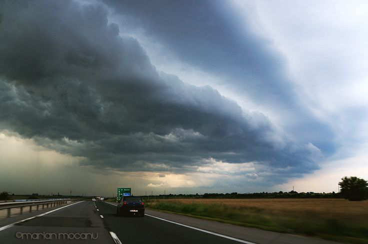 Storm on highway.