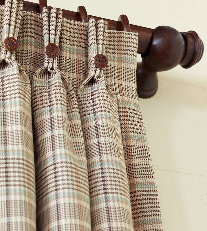 Kai Plaid Room Darkening Single Curtain Panel Plaid Curtains