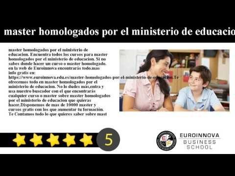 credito master ministerio de educacion