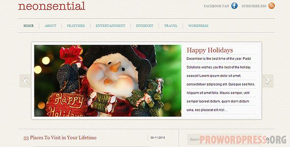 Neonsential Wordpress Theme Download