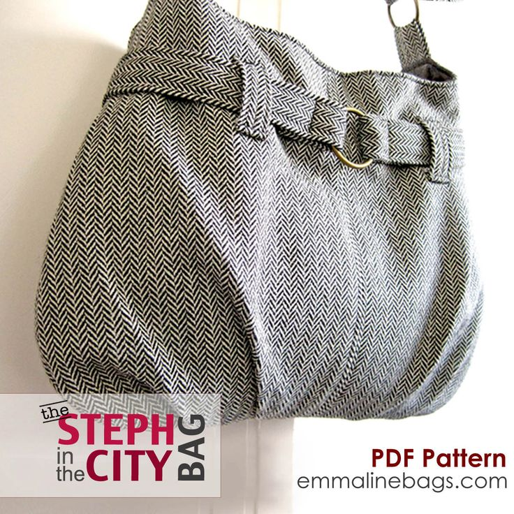 Steph In The City Bag PDF Sewing Pattern - Purse, Handbag, Shoulder or Tote Bag Pattern. $8.50, via Etsy.