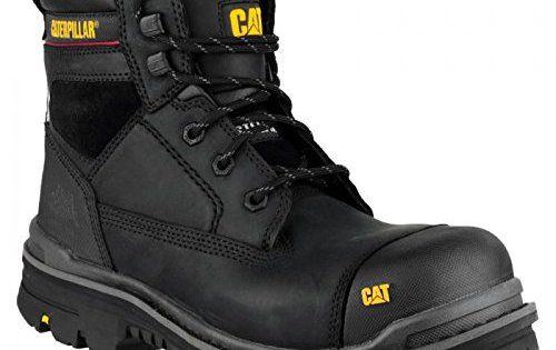 Caterpillar Gravel – Chaussures montantes de sécurité – Homme: Semelle en caoutchouc. Dessus en cuir pleine fleur. Doublure en tissu…