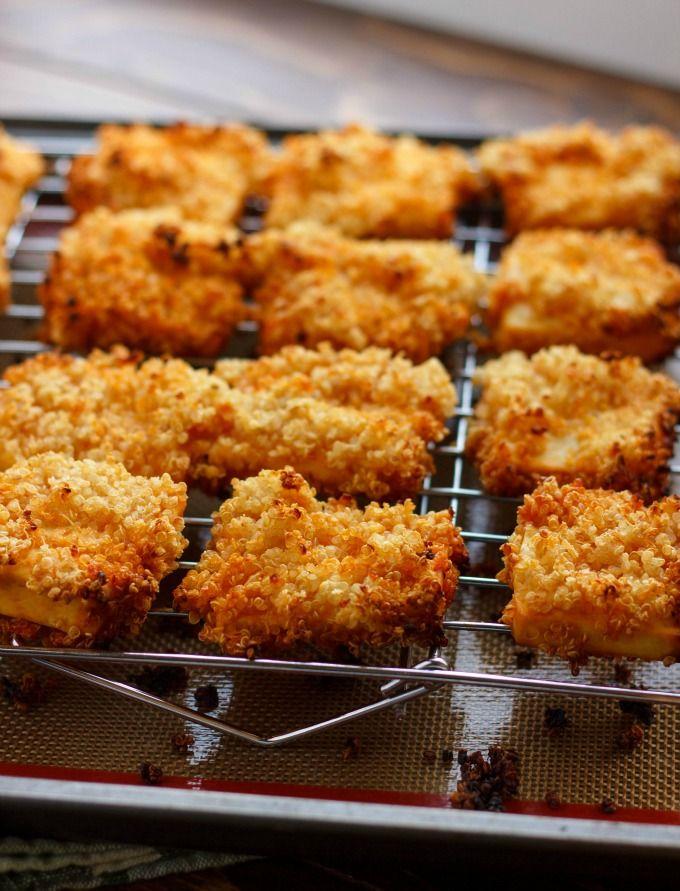 Quinoa Crusted Tofu Nuggets (Tofu Chicken Nuggets!)