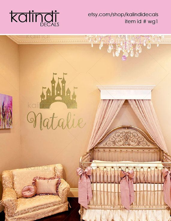 Kids Wall Decal- Princess castle  wall decal- Girls Room Decorations - Nursery Wall Decal - Vinyl Lettering Wall Art - id# wg1