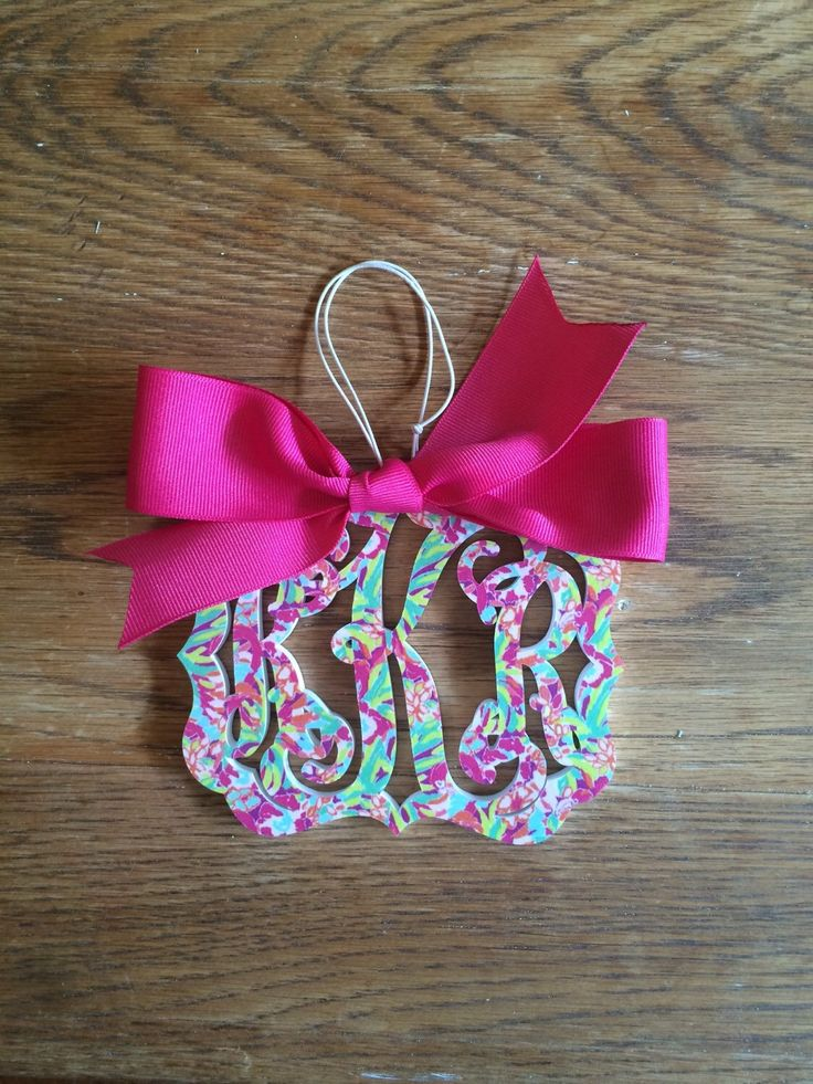 A personal favorite from my Etsy shop https://www.etsy.com/listing/384370054/lilly-inspired-rear-view-mirror-charm
