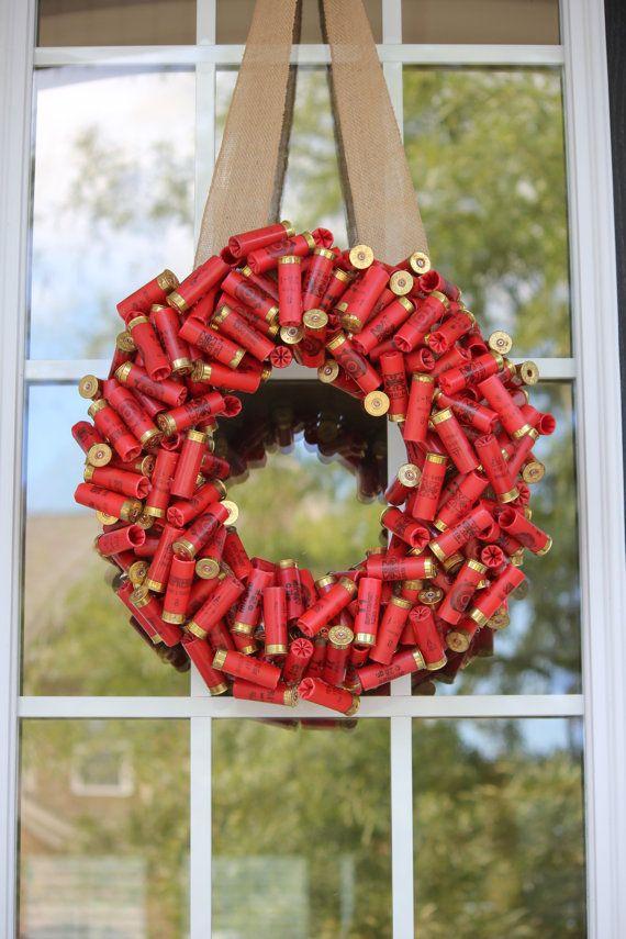 Shotgun shell wreath on Etsy