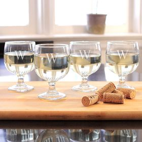 Cathy's Concepts 1125-4 Stackable Low Stem Wine Glasses (Set of 4)