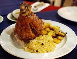 Schweinshaxe - Seriously?! I don't see ANYTHING wrong with this dish. I try to have it at least twice or thrice a month. Thrice - such a funny word!