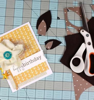Wish a loved one a special happy birthday with a handmade birthday card. Dress up a blank card with hand cut cardstock shapes and embellishments using ribbons, fabric scraps and buttons. Click in to get inspired.