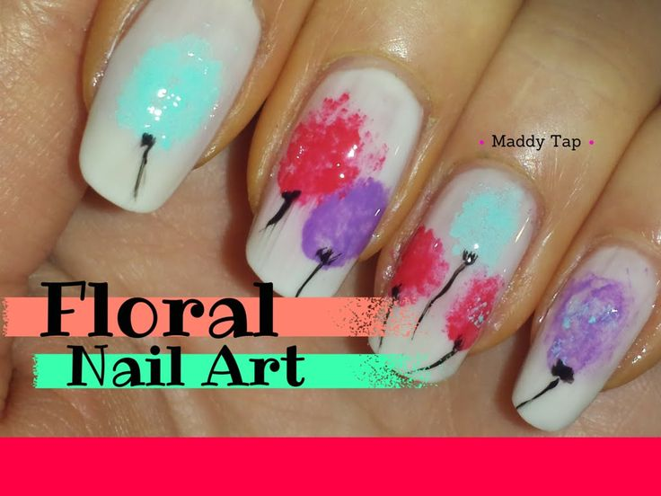 Floral nail art for beginners #nailart #polish #tutorial