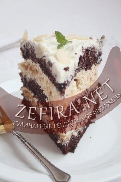 Шоколадный торт с безе-домашние рецепты с фото