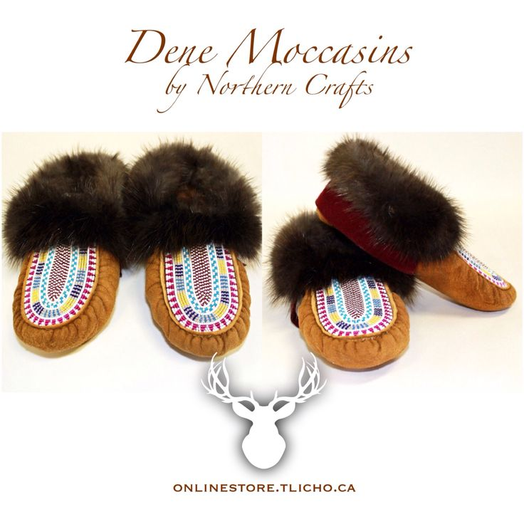 #Dene #moccasins by #Northern #Crafts (#Yellowknife) available-> http://onlinestore.tlicho.ca #Tlicho