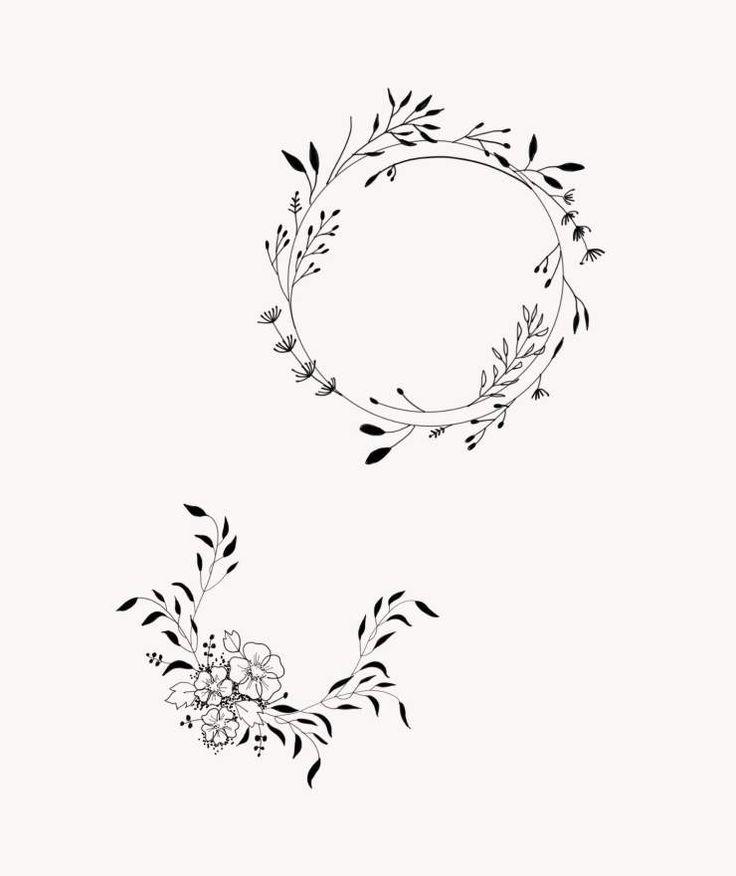 Flower Circle Line Drawing : Les meilleures idées de la catégorie tatouage botanique