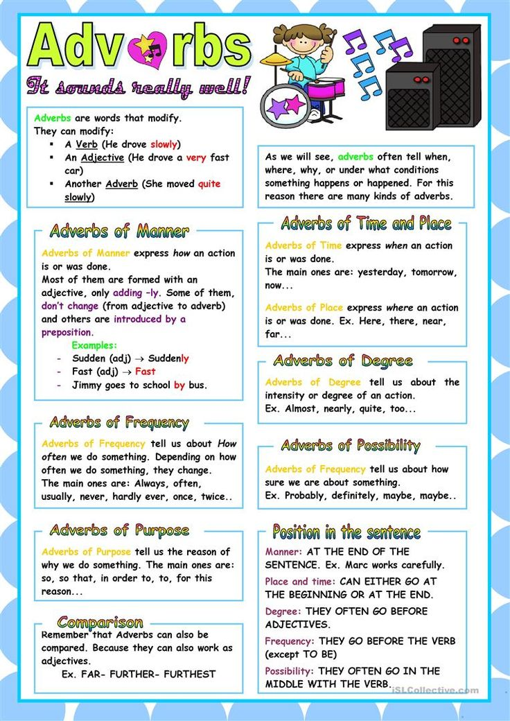 152 Best Adverbs Images On Pinterest English Grammar Language And